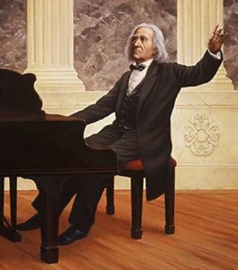 Muziekvirtuoos Ferenc Liszt