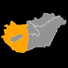 kaartje West Hongarije Pannonia